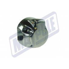 MAYPOLE 12v 'N' TYPE 7 PIN NICKEL PLATED PINS ALUMINIUM SOCKET