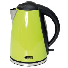 Quest 1.8L Low wattage stainless steel green kettle